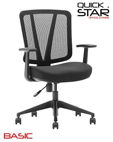 QUICK STAR bureaustoel BASIC zwart hoogste belastbare bureaustoel draaistoel draaistoel