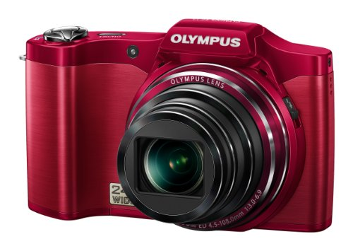 Olympus SZ-14 Digitalkamera (14 Megapixel, 24-fach opt. Zoom, 7,6 cm (3 Zoll) Display, bildstabilisiert) rot