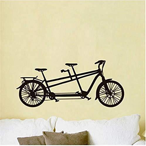 Wandtattoos Wandsticker Romantisches Doppelfahrrad Vinyl Sweet Art Applique Wohnkultur Wohnzimmer Wanddekoration 44X100cm