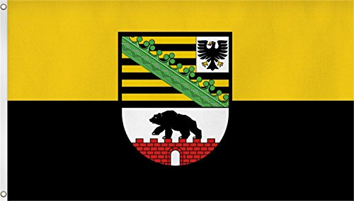 normani TOP QUALITÄT !! Fahne Flagge, Grösse: ca. 90x150 cm, Ordentliche Stoffqualität - Stoffgewicht ca. 110 gr/m2 Farbe Sachsen Anhalt