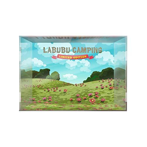 SUH Bubble Mart Labubu Camping Elevador Decoración Dedicada Mostrar Cuadro Mostrar Hecho A Mano PVC Figura Modelo Caja de visualización