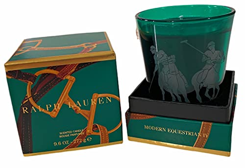 Ralph Lauren Home Limited Edition Scented Candle in Glass Holder 9.6OZ(Scent Options) (Modern Equestrian)