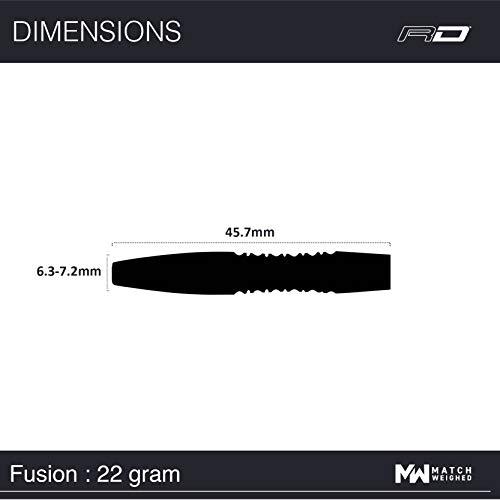 Red Dragon Fusion 1 Steel Dartpfeile - 6
