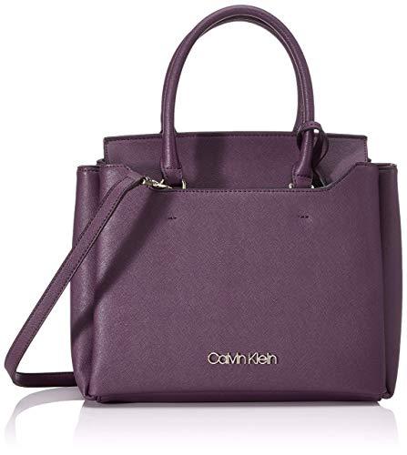 Calvin Klein Worked Sml Tote - Borse Donna, Rosso (Merlot), 12x24x28...