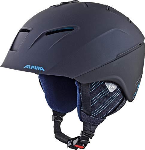 bester Test von alpina raumfarbe poco Skihelm ALPINACHEOS, Unisex-Erwachsener, Night Blue Matte Denim, 58-61