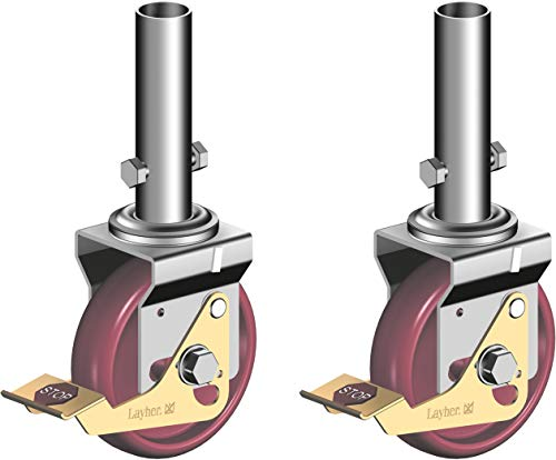 Layher Fahrgerüst Lenkrolle 400-2er Set - Gerüstrollen für fahrbare Gerüste