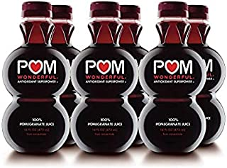 POM Wonderful 100% Pomegranate Juice, 16 Fl Oz, 6 Count
