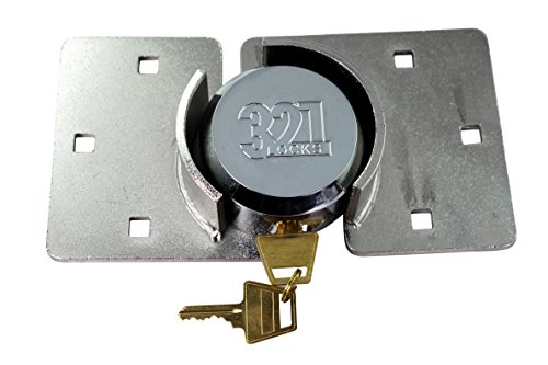321 Locks Van Locks Heavy Duty Hasp Padlock - Cargo Lock for Trailer, RV, Van, Vending Machines and Storage Buildings (Lock & Hasp) (CT-10) (CT-10)