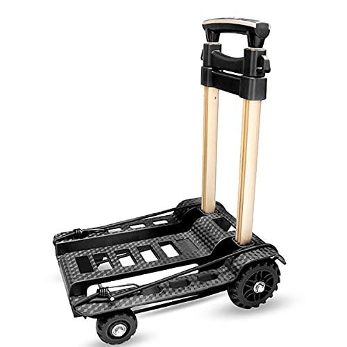 Carro plegable portátil con 4 ruedas, plegable rápido, ligero y compacto, carro todo terreno para trabajos pesados para mudanzas, compras, entregas y compras a