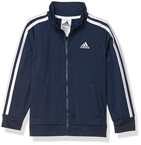 adidas Boys' Toddler Iconic Tricot Jacket, Collegiate Navy, 3T