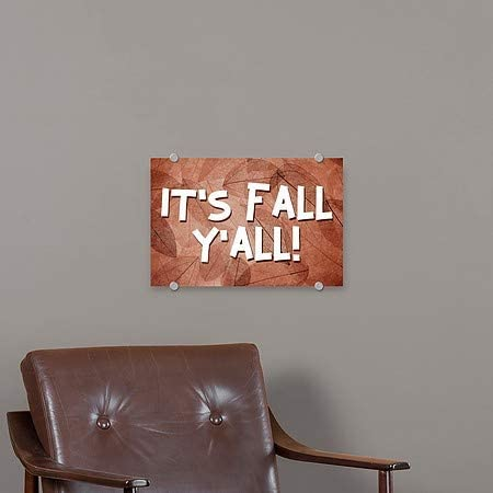 CGSignLab Inner CircleIts Fall Yall Premium Brushed Aluminum Sign 27x18