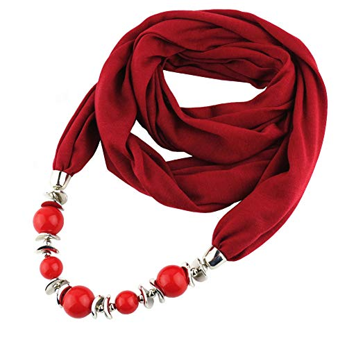 ANDAY Beads Colgante Cuello Redondo Collar Collar Pañuelo Bufanda Collares Mujeres Joyería Étnica Vintage Accesorios