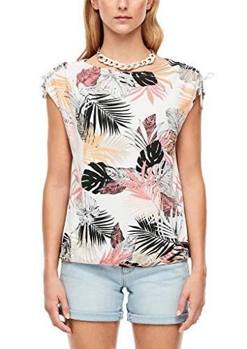 s.Oliver RED Label Damen Jerseyshirt mit Allover-Print Offwhite floral Print 44