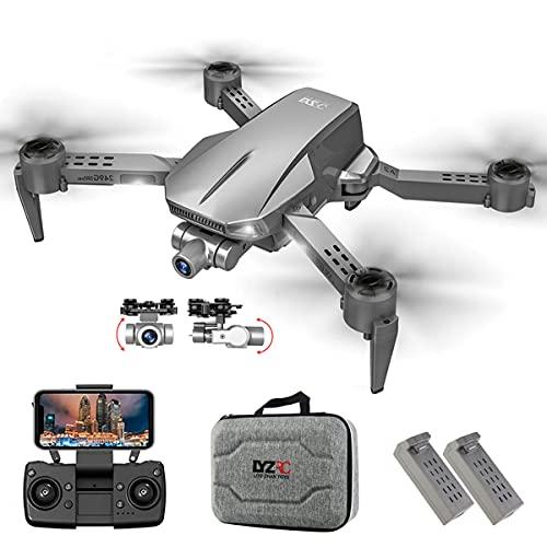 XIAOKEKE Senza Spazzole RC Drone, 5G WiFi HD GPS Drone, 2 Axis Gimbal Autostabilizzante, Riconoscimento dei Gesti, Esperienza 3D Realtà Virtuale, con Borsa Portatile E Doppia Batteria