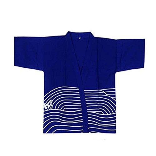 Sushi Bar Restaurant Kochjacke Kleidung Kellner Halbarm Uniform Kimono Tops, 01