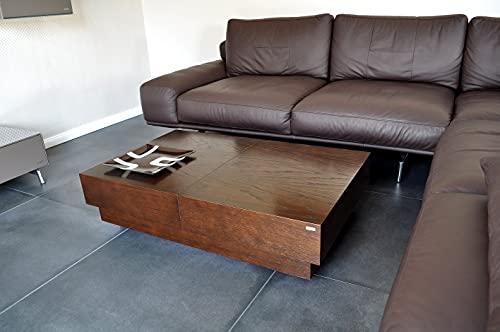 Carl Svensson Design Couchtisch S-70 Walnuss/Wenge Tisch Schublade Stauraum
