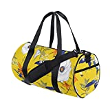Rootti - Bolsa de deporte para gimnasio, diseño de flores, con cremallera, bolsa de viaje, bolsa de deporte, bolsa de yoga, impermeable, para hombre, mujer, niño y adulto