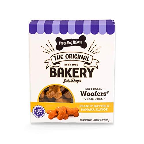 Three Dog Bakery Woofers Peanut Butter & Banana Flavor