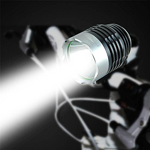 Dcolor 80 Lumen Interface XML Q5 Lumiere de Velo de LED Phares de Velo Phare Mode 3 Noir