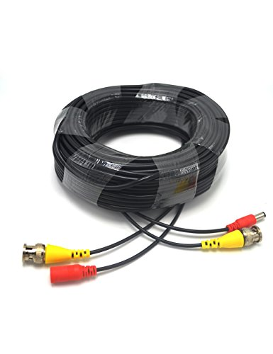Padarsey Pre-Made All-in-One 30M 100Ft BNC Video and Power Cable Wire Cord with Connector for CCTV Security Camera