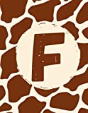 F: Journal Personalized Name Notebook Giraffe Lovers Gifts Lined Journal 8.5 x 11 120 Page...