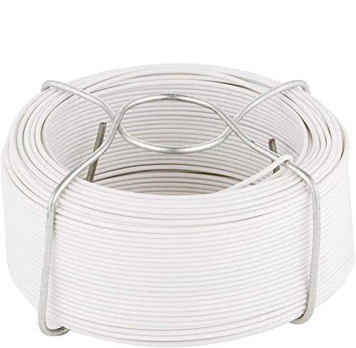 Amagabeli 6 X 50M Cavo Metallico Rivestito di Plastica - 1.15mm - Filo Ferro Plastificato Bianco WR8