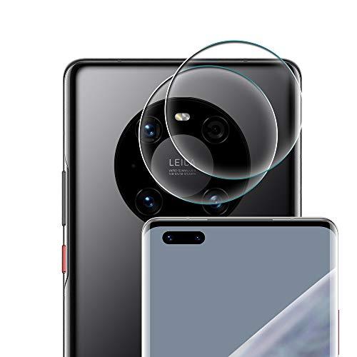 Coqin [2 Pack] Vetro Temperato per Lente Fotocamera Huawei Mate 40 PRO, Pellicola Protettiva Ultra Sottile 2.5D 9H Anti-graffio Durezza Protettore Film