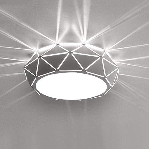 Plafón de alto rendimiento LED Flush montaje en el techo Lámpara de techo de luz LED redonda for el hogar, el montaje empotrado de las luces de la luz ambiental creativas pintadas acabados de metal Bo