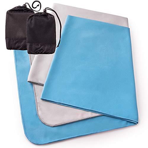 The Friendly Swede Mikrofaser Handtücher 2er Set schnelltrocknend saugfähig - Fitness Handtuch, Sporthandtuch - Ultraleichte, Badetücher