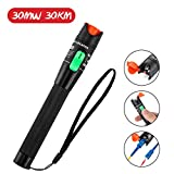GOCHANGE 30mW 30KM Visual Fault Locator, Fiber Optic Cable Tester Meter, Red Light Cable Test Equipment for 2.5mm Universal Connector, FC Male to LC Female Adapter for CATV Telecommunications