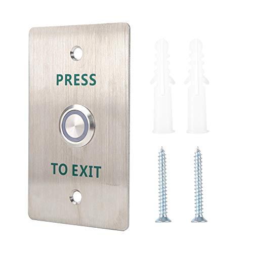 Prensa de liberación Abierta Interruptor de Acceso de Metal Placa de Acero Inoxidable Interruptor de Puerta de Acero Inoxidable, para Sistemas de Control de Acceso electrónico
