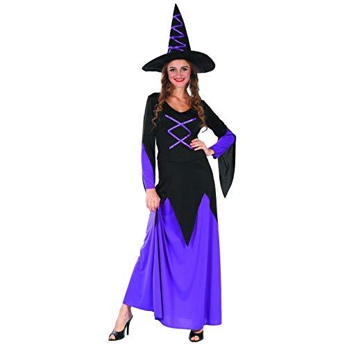 P'TIT Clown re99837 - Costume sorcière violette robe longue