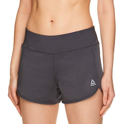 Reebok Women's Athletic Workout Shorts - Gym Training & Running Short - 3 Inch Inseam - Mara Medium Grey, Medium