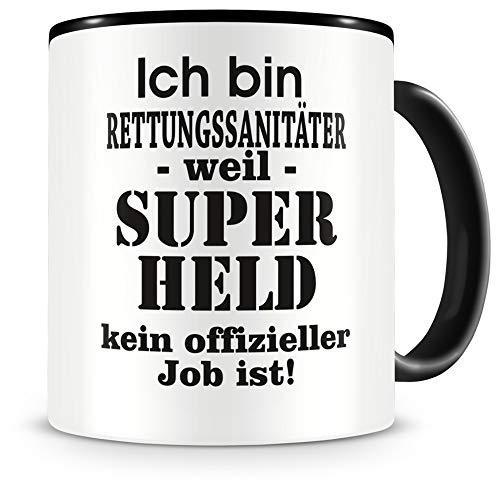 Samunshi® Ich bin Rettungssanitäter Tasse Beruf Geschenk Kaffeetasse Teetasse Kaffeepott Kaffeebecher Becher Geburtstag schwarz 300ml