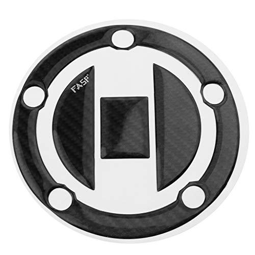 H HILABEE Motorrad Tankdeckel Aufkleber aus Kohlefaser, passend für Suzuki GSXR 600 750 1000, Schwarz, Kratzfest, Wasserdicht