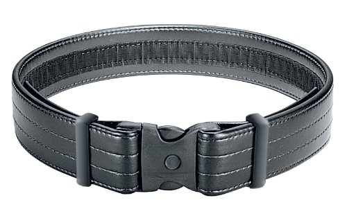 Uncle Mike's Mirage Plain Ultra Duty Belt with Hook and Loop Lining (Large, Black)