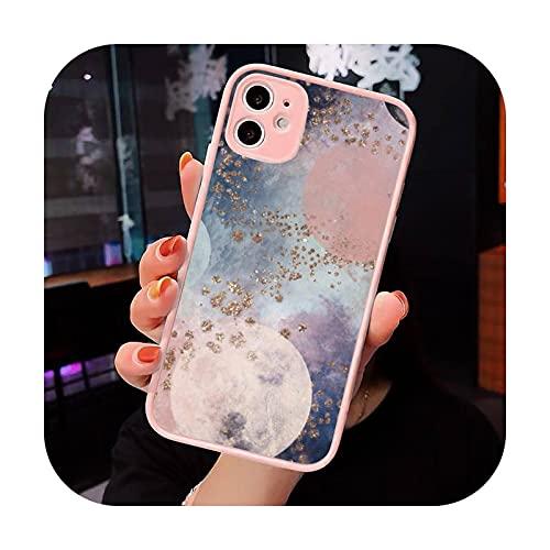 Moda caramelo colorido patrón teléfono caso mate transparente para iPhone 7 8 11 12 s Mini pro X XS XR MAX Plus cubierta funda-a12-iPhone12mini