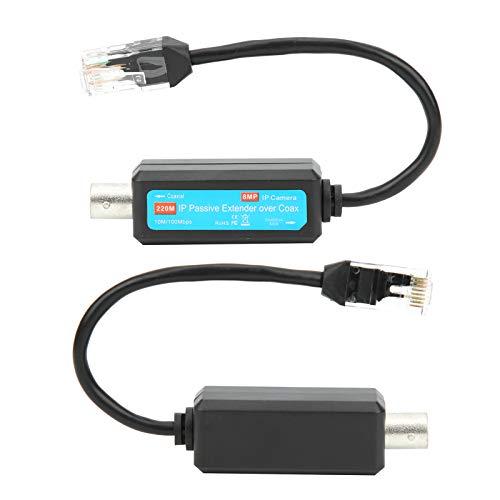 Nicoone Cableado Pasivo Extensor Transmisor Coaxial Extensor Conector Coaxial Rj45 para el Enchufe de la Cámara Web