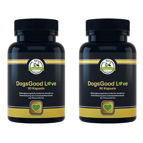 Angebot - Gelenktabletten für Hunde - Hilft bei Arthrose ihres Hundes, mit Grünlippmuschel, MSM, Teufelskralle, Glucosamin und Ingwer - 2x 90 Kapseln Gelenk- & Knochenschutz für bis zu 6 Monate