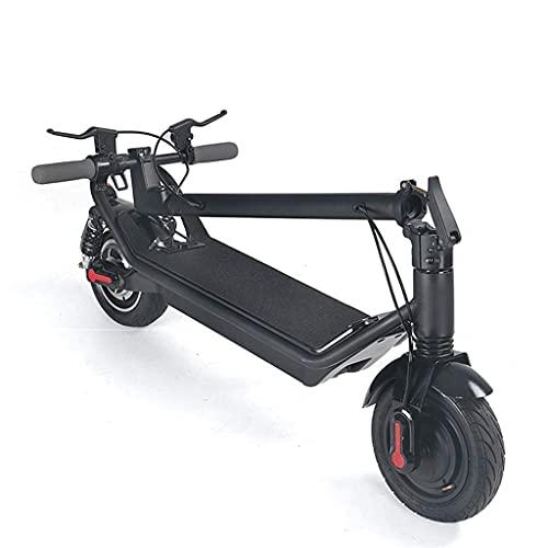CCLLA Bicicleta Plegable Scooter eléctrico Ligero Batería de Litio Plegable y extraíble Unidad Simple y Doble 48v Scooter para Adultos jóvenes Scooter eléctrico de 10 Pulgadas