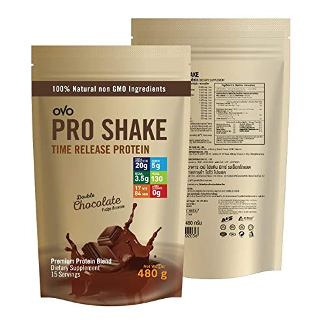 Whey Protein Chocolate OVO PRO SHAKE Protein-Rich Dietary Supplements That are Beneficial to The Body 480 Grams. jceo413354800776