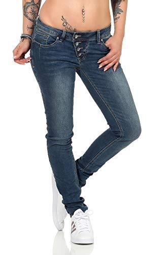 Buena Vista Damen Jeans Malibu Tapered Slim Fit Blue (82) S