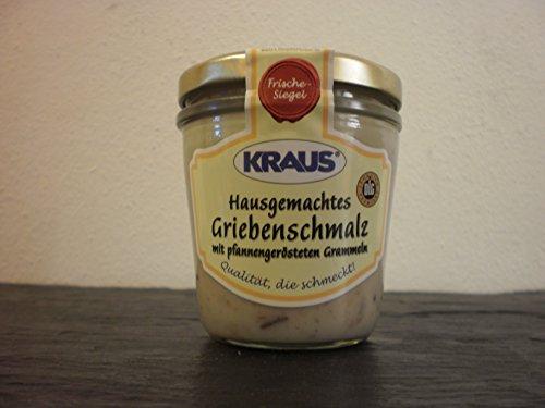 Hausgemachtes Griebenschmalz mit pfannengerösteten Grammeln vom Metzger keine Industrieware Glas Konserven