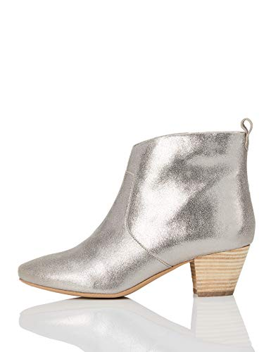 find. Casual Western Santiags, Silber (Dusted Foil), 36...