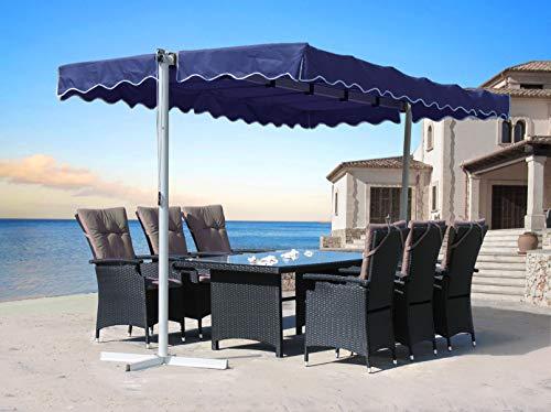 QUICK STAR Standmarkise 3,75x2,25m Terrassenüberdachung Dubai Blau
