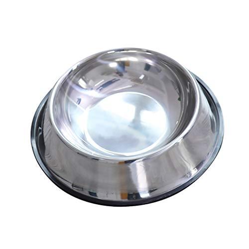ZZL Comedero Perro Base de Goma del alimentador alimentación Animales Perros Gatos Cuenco de Agua de Acero Inoxidable Pequeña Mediana Grande Torus Container antivuelco Tamaños Múltiples Bebede