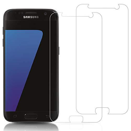 Three-Tree Panzerglas Schutzfolie für Samsung Galaxy S7, [2 Stück] 9H Kratzfeste HD Panzerglasfolie, Anti-Kratzen Anti-Öl Blasenfrei Einfache Installation Displayschutzfolie für Samsung S7