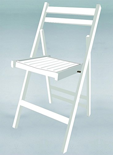 Kit Closet Silla Plegable de Madera en Color Blanco