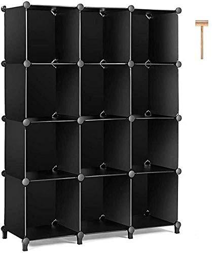 OUKANING Kleiderschrank Garderobe,Kombischrank, modularer Schrank für platzsparende, für Aufbewahrung Organizer Cube für Bücher, Spielzeug, Handtücher(12-Würfel)