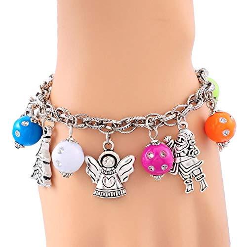 Wintermode Weihnachten Armband Für Frauen Weihnachtsmann Herz Schneeflocke Form Armband Mehrere Stil Schmuck, style8